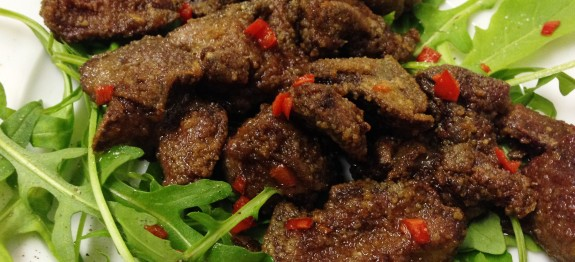 James' Spicy Chicken Livers