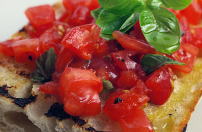 Easy tomato bruschetta the easiest way to cook great food for French starters vegetarian