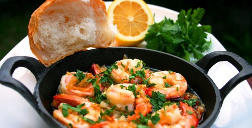 Sizzling Garlic Chilli Prawns