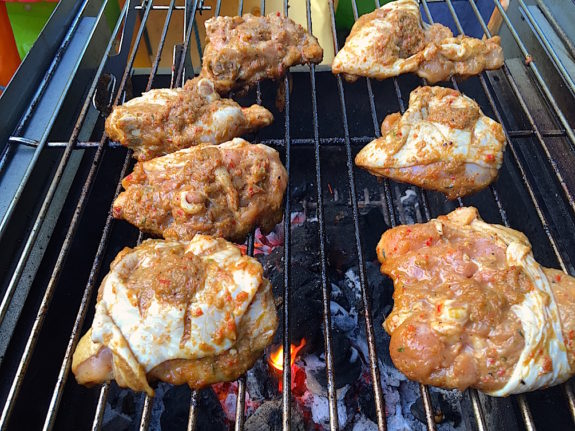 Jerk Chicken on BBQ