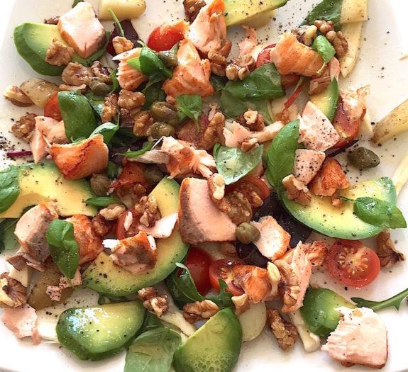 James McConnell Cooks Grilled Salmon Super Food Salad
