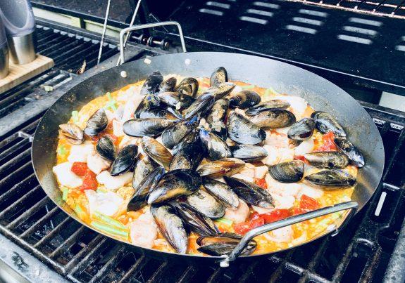 Jimmy Macs Paella on the BBQ