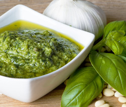 James McConnell Cooks pesto, basil, traditional-italian-pesto